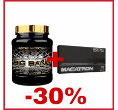 BIG BANG 3.0 825 g + MACATRON 108 kapsúl -30% SLEVA